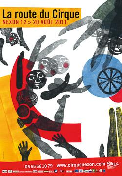 2011_SIRQUE Affiche Festival La Route du Cirque