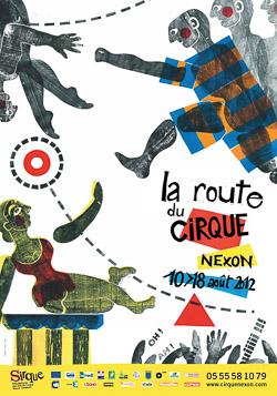 2012 SIRQUE Affiche La Route du Cirque
